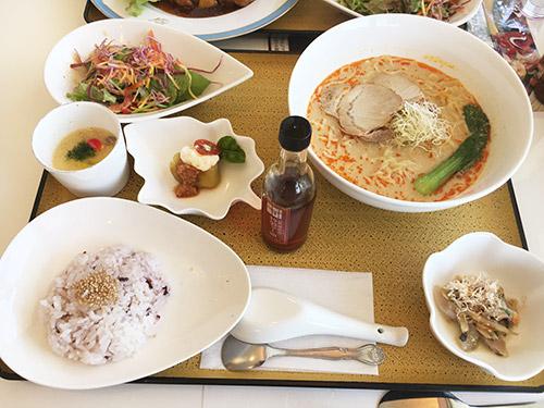 桷志田黒酢ランチ(担々麺)