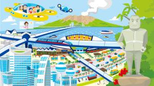 鹿児島の未来イラスト
